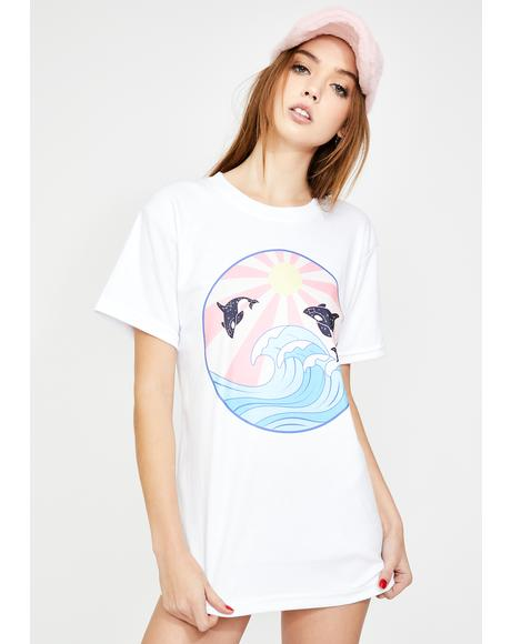Whale Wave Graphic Tee