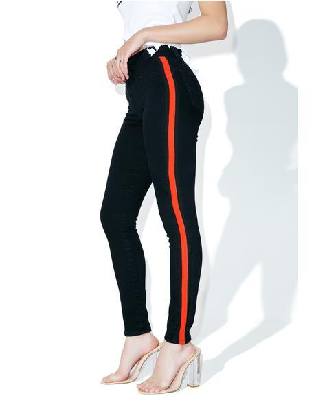 Indigo Mattie High Waist Tuxedo Skinny Jeans