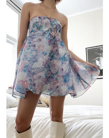 Pastel Floral Cupcake Dress