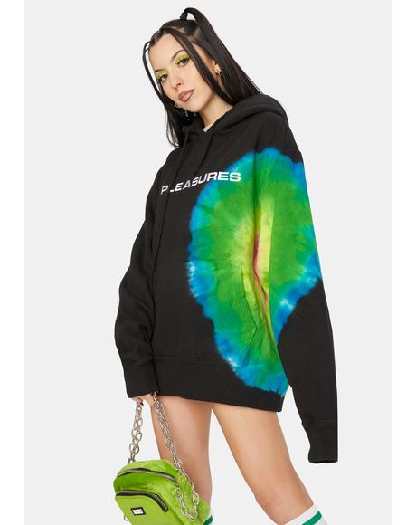 Eclipse Embroidered Tie Dye Hoodie
