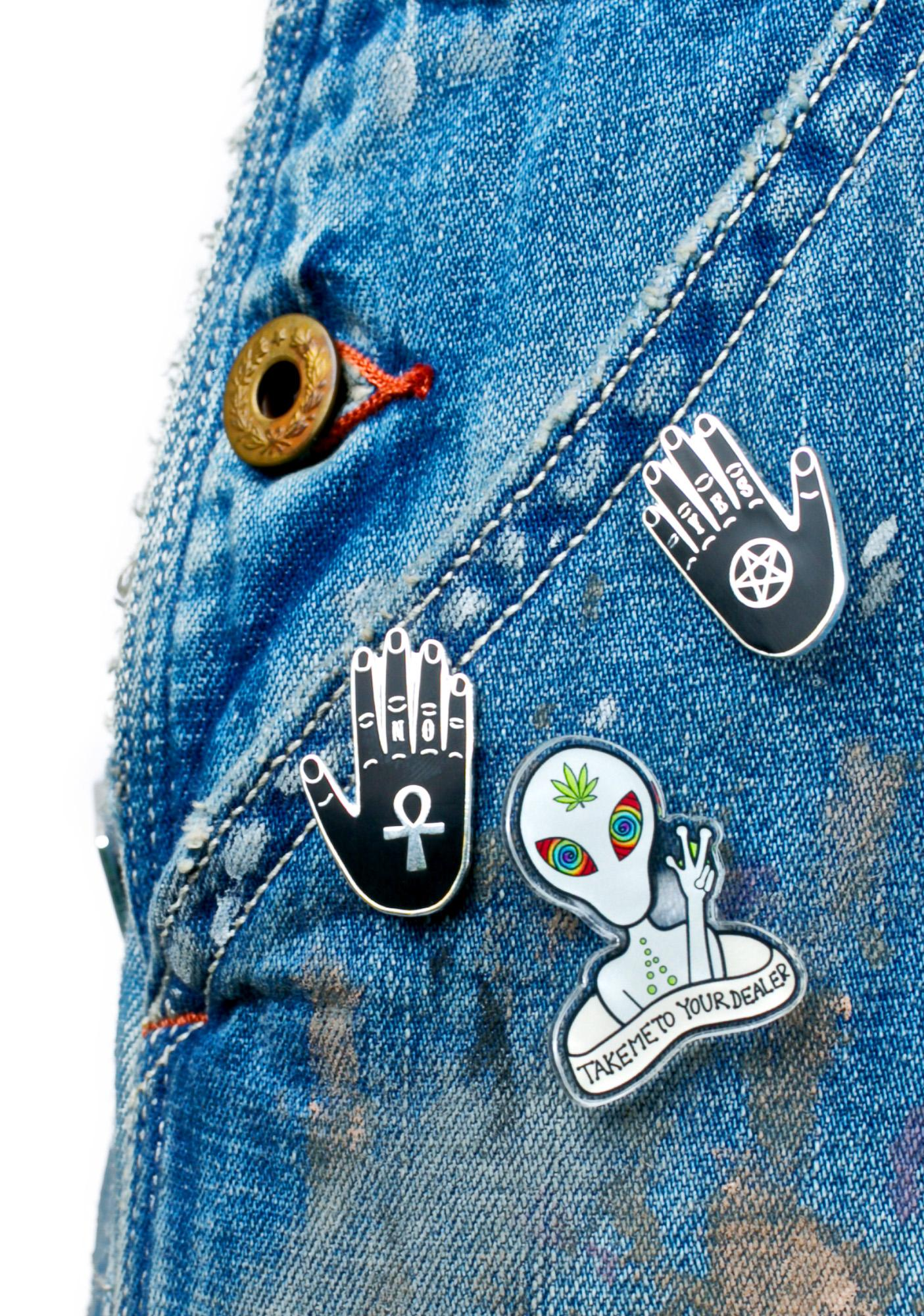 Punky Pins Yes & No Hands Pin Set