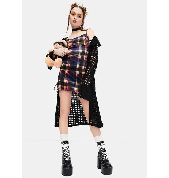 dELiA*s by Dolls Kill Weekend Wars Long Knit Cardigan