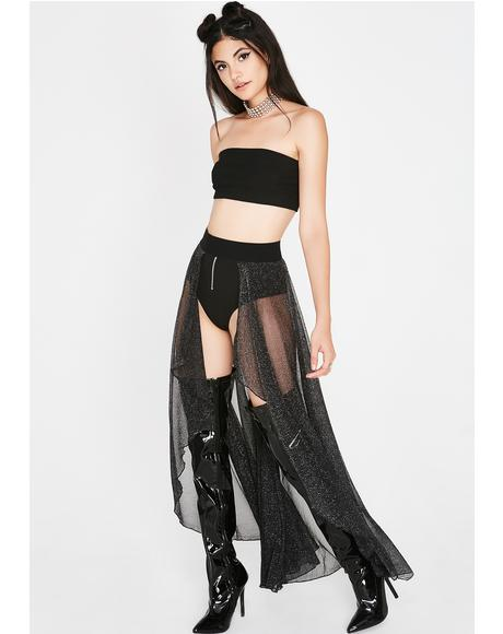 Sparkle In Your Eye Sheer Skirt