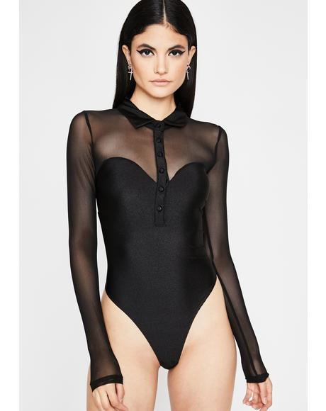 Dark Electrik Vixen Polo Bodysuit