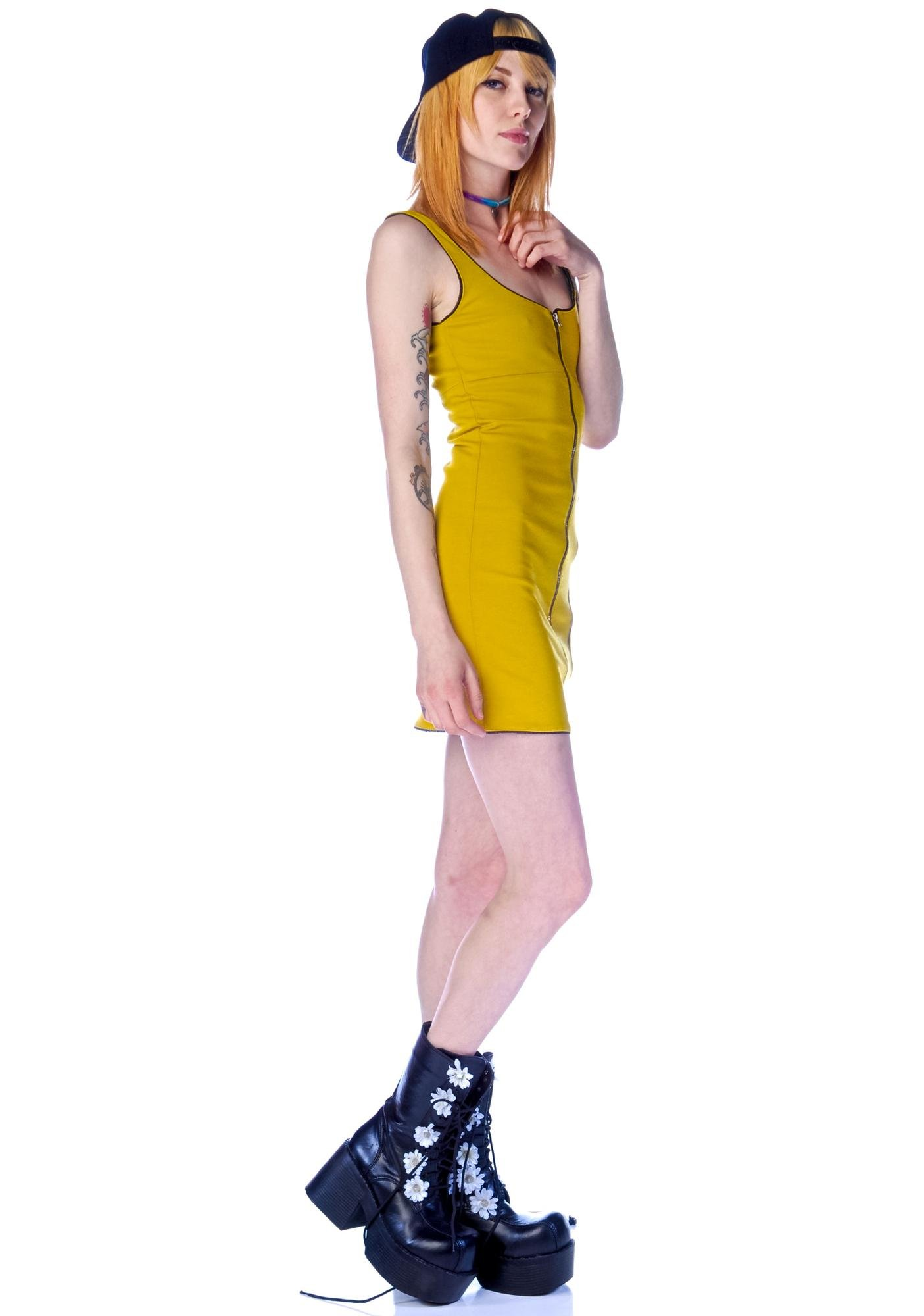 One Teaspoon Parton Zipper Dress