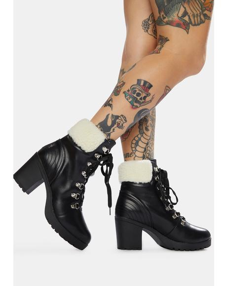 Wander Often Lace Up Heeled Boots