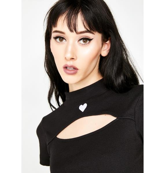 Lazy Oaf Cut Out Heart Tee