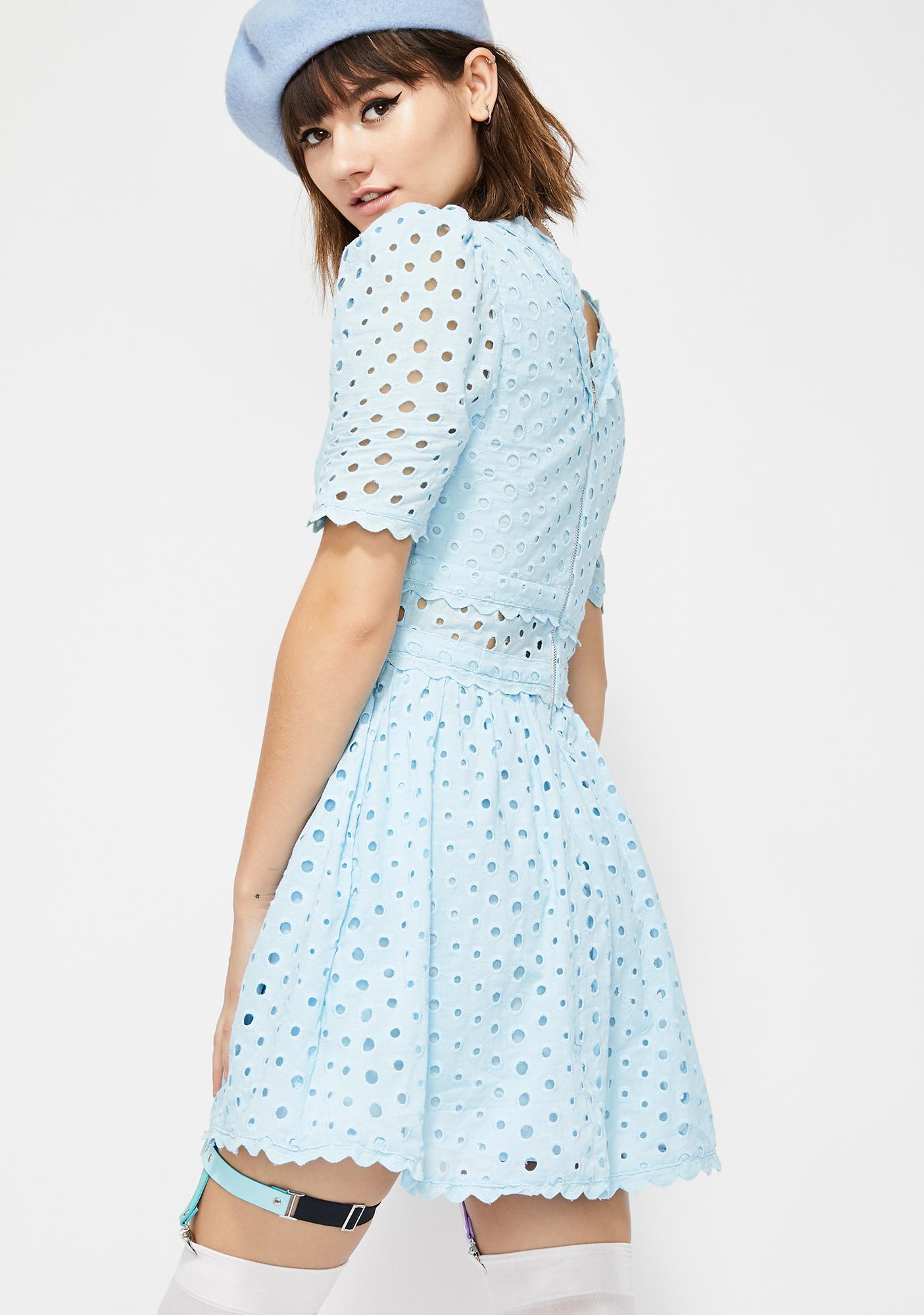 Bubble Pop Electric Mini Dress