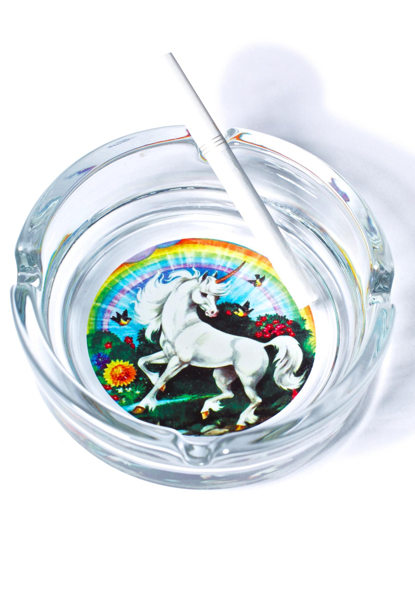 Don't Stop Believin' Unicorn Ashtray