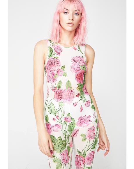 Bloomin' Baddie Floral Catsuit