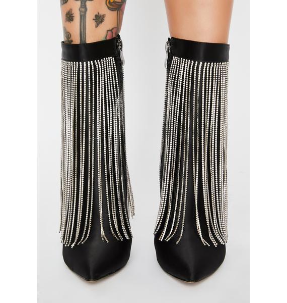 AZALEA WANG Stephany Rhinestone Fringe Boots