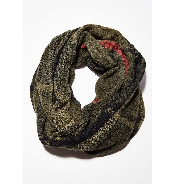 School Of Hard Knocks Plaid Scarf