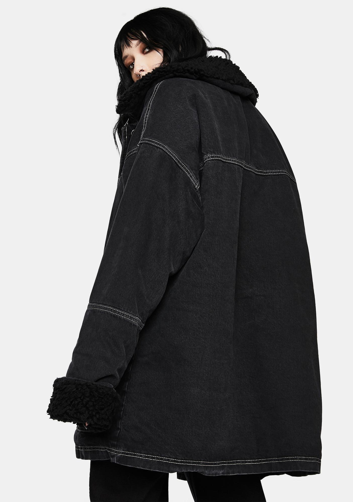 BDG Black Dylan Donkey Denim Jacket