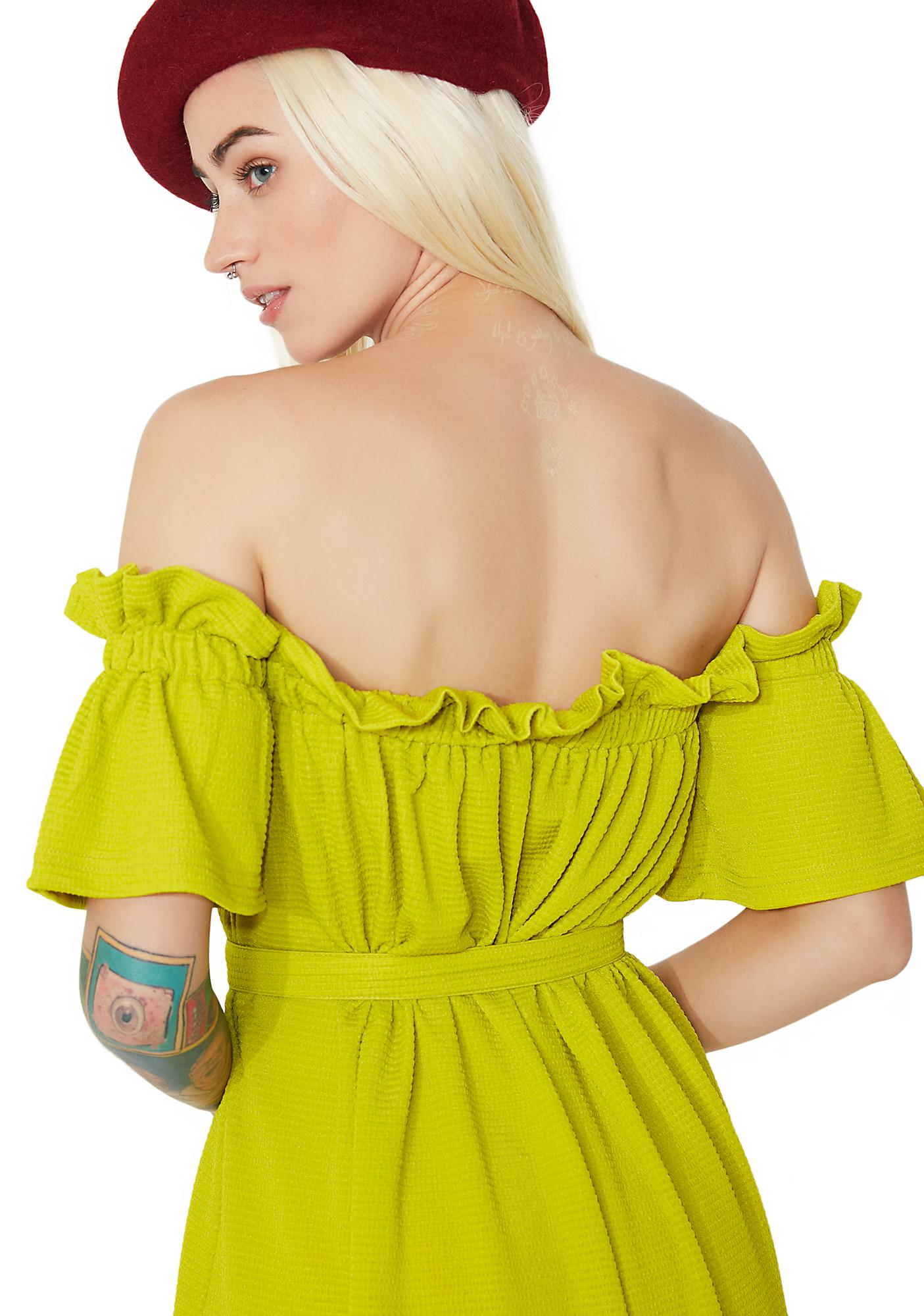 one spo Bare Shoulder Dress