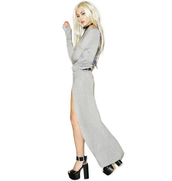 One Teaspoon Soho Fine Wool X Maxi Dress