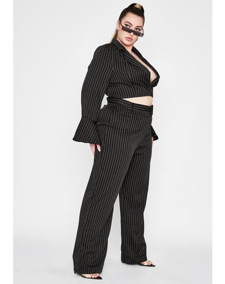 Mz Point Blank Period Pinstripe Pants