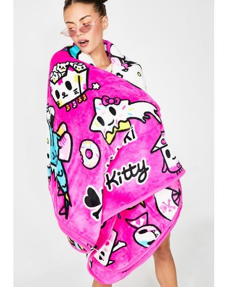 Tokidoki X Hello Kitty Micro Polar Fleece Blanket