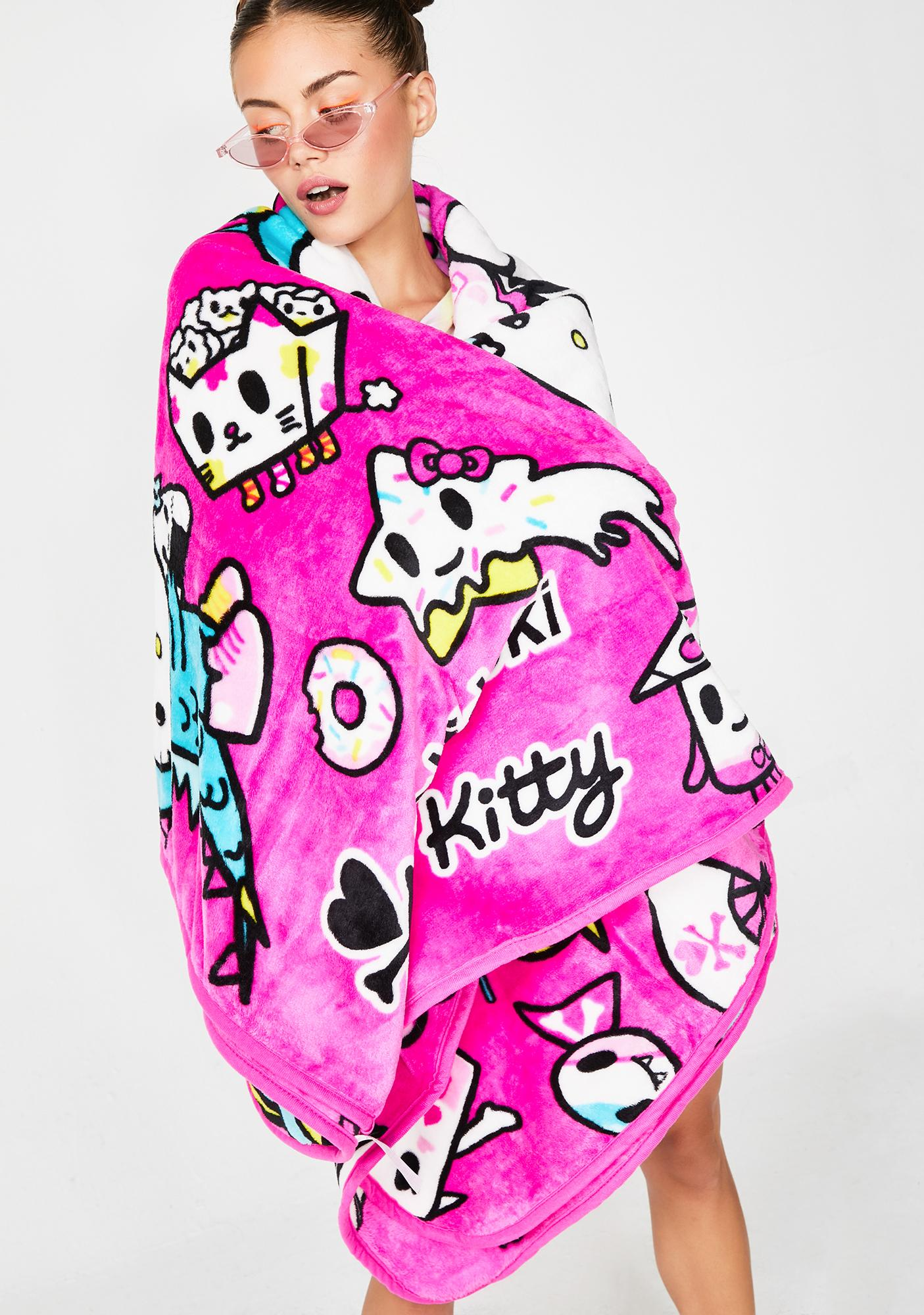 Sanrio Tokidoki X Hello Kitty Micro Polar Fleece Blanket Dolls Kill