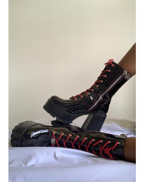 Road To Nowhere Platform Boots