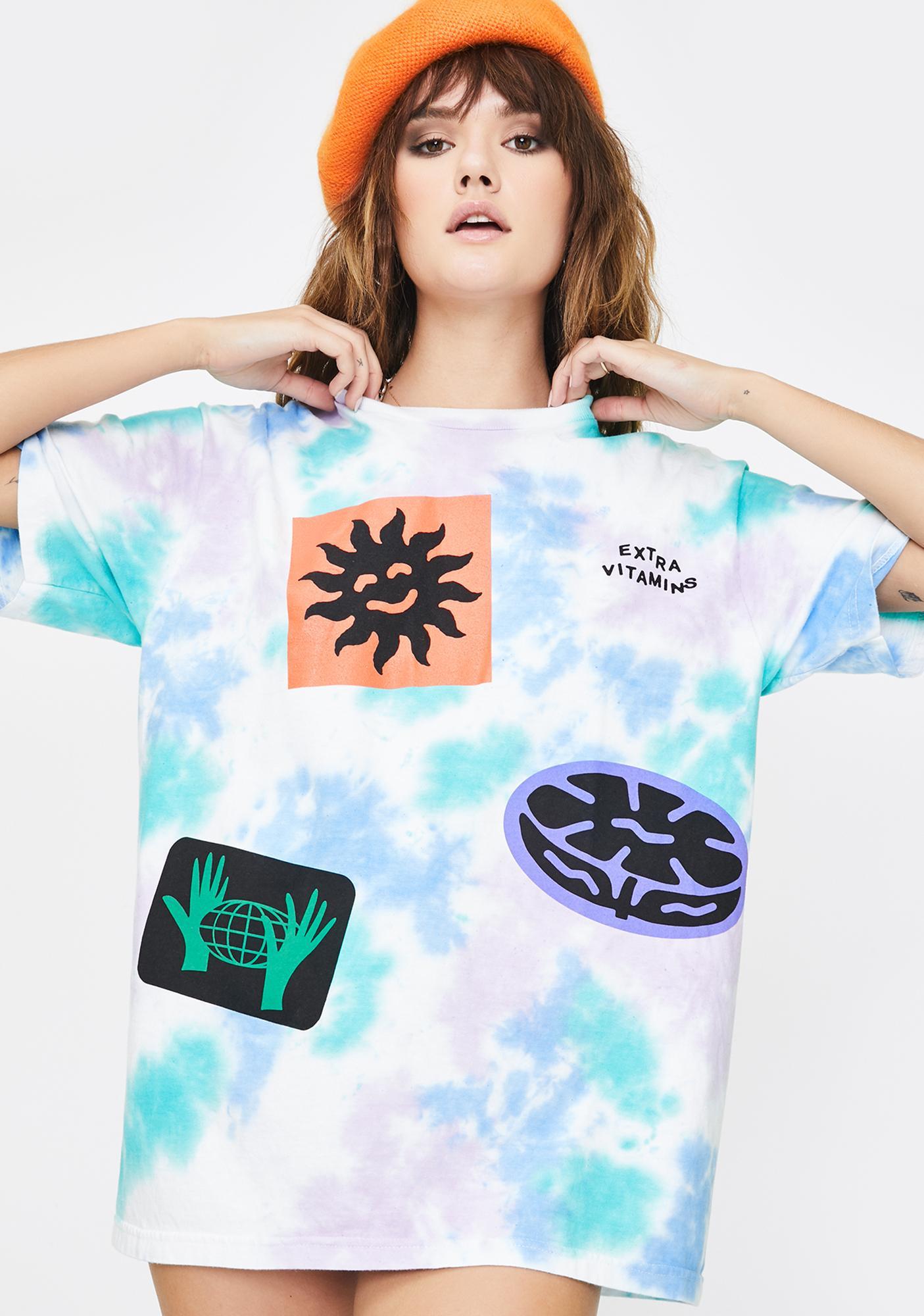 Extra Vitamins Sticker Dye T-Shirt