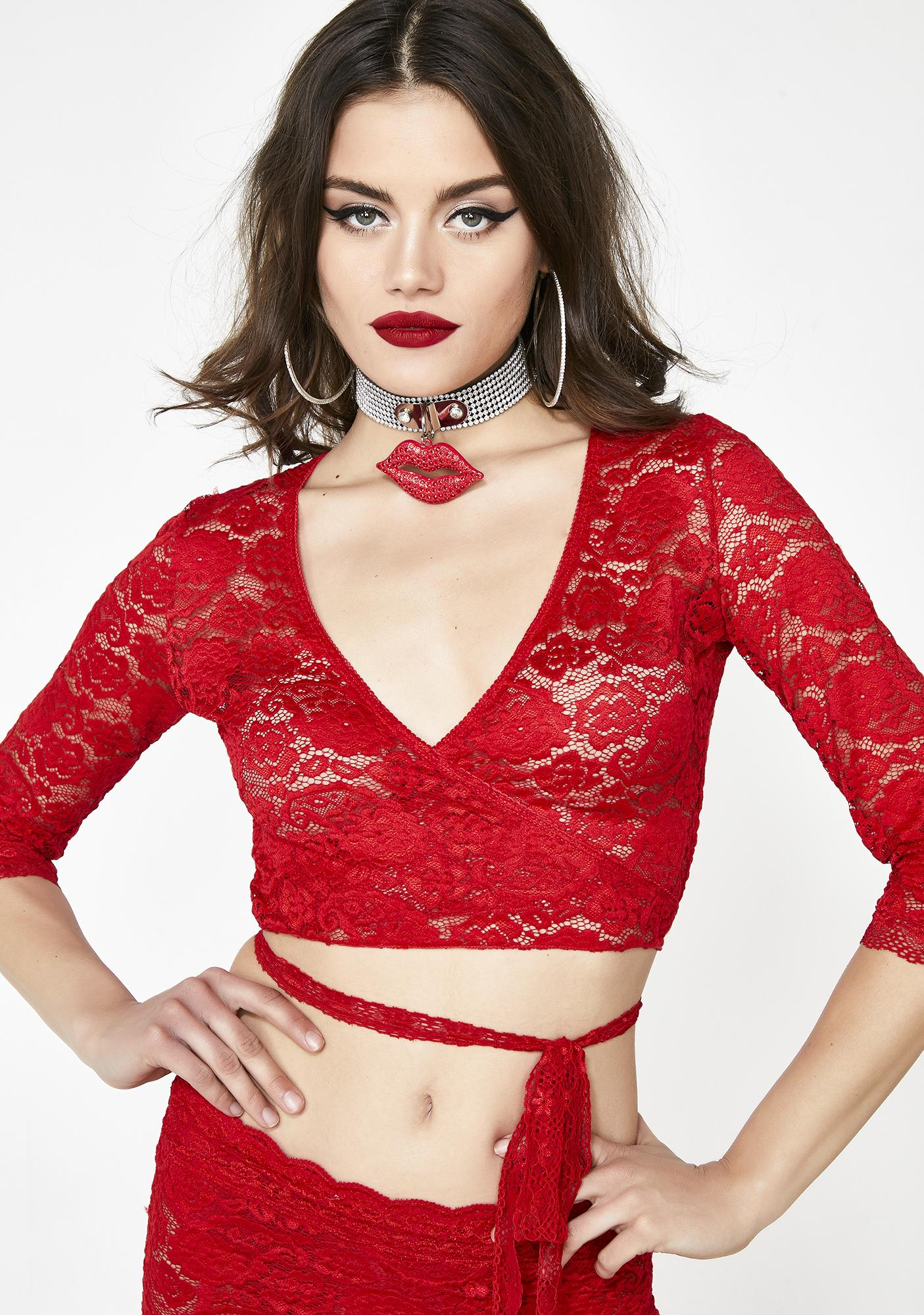 Kiss It Better Wrap Top by Current Mood