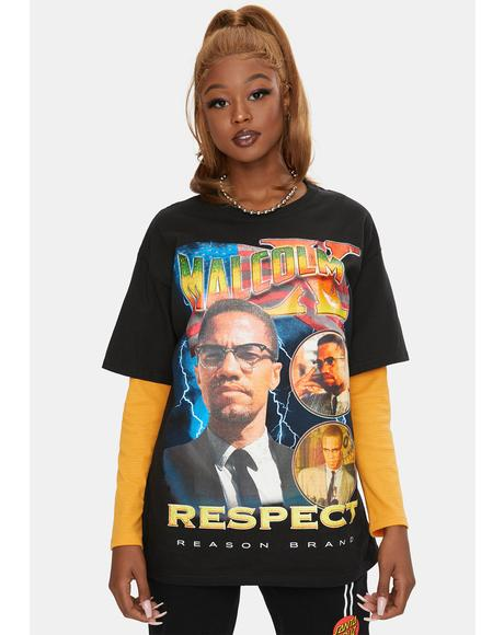 Malcolm X Respect Graphic Tee