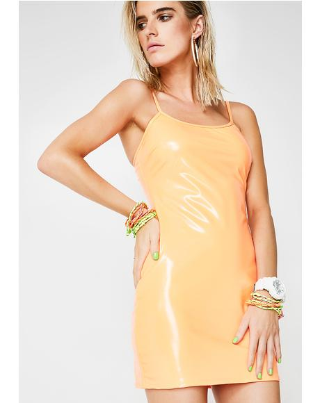 Feelin' Sun Kissed Vinyl Dress