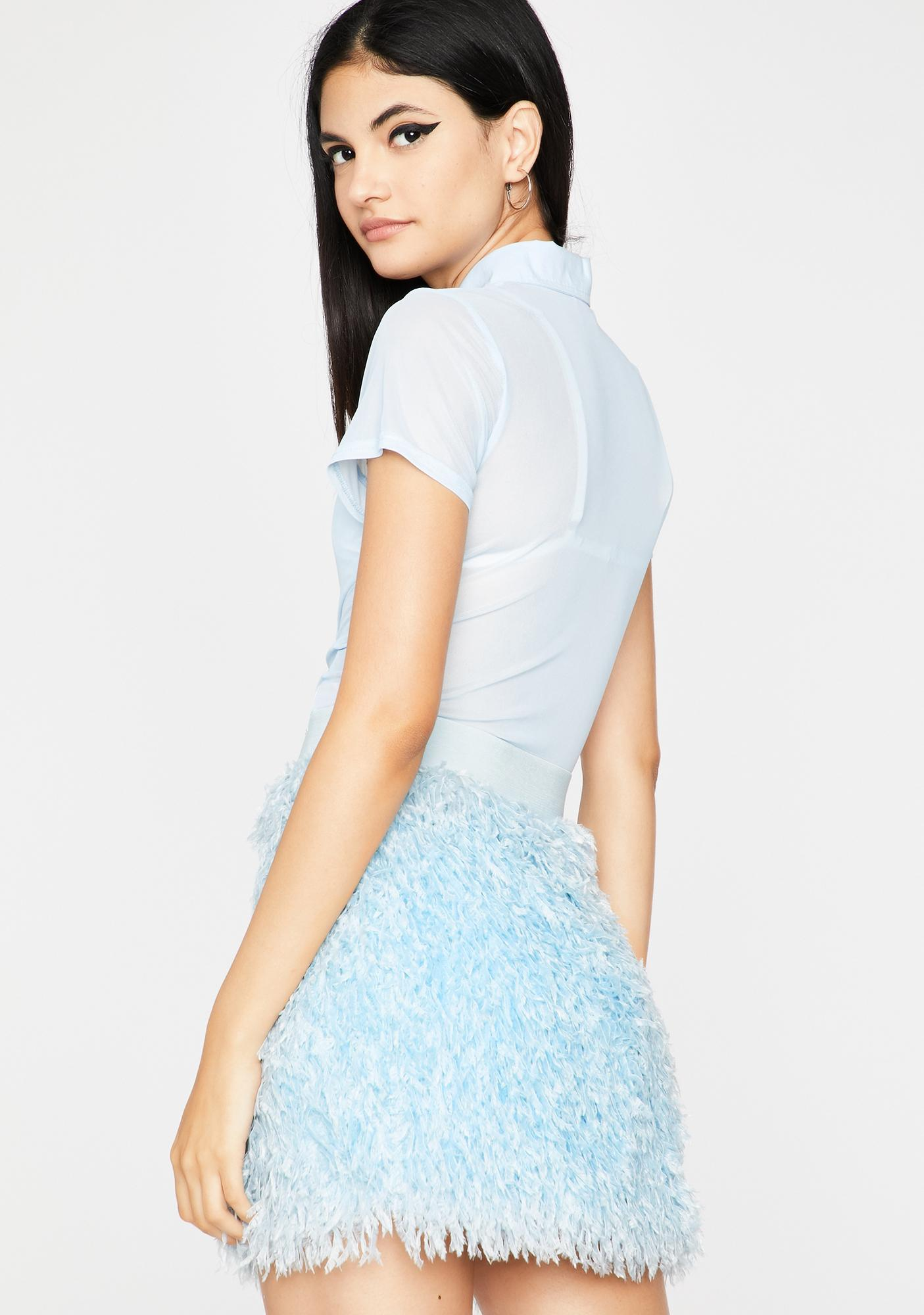 Feel It Out Fuzzy Skirt