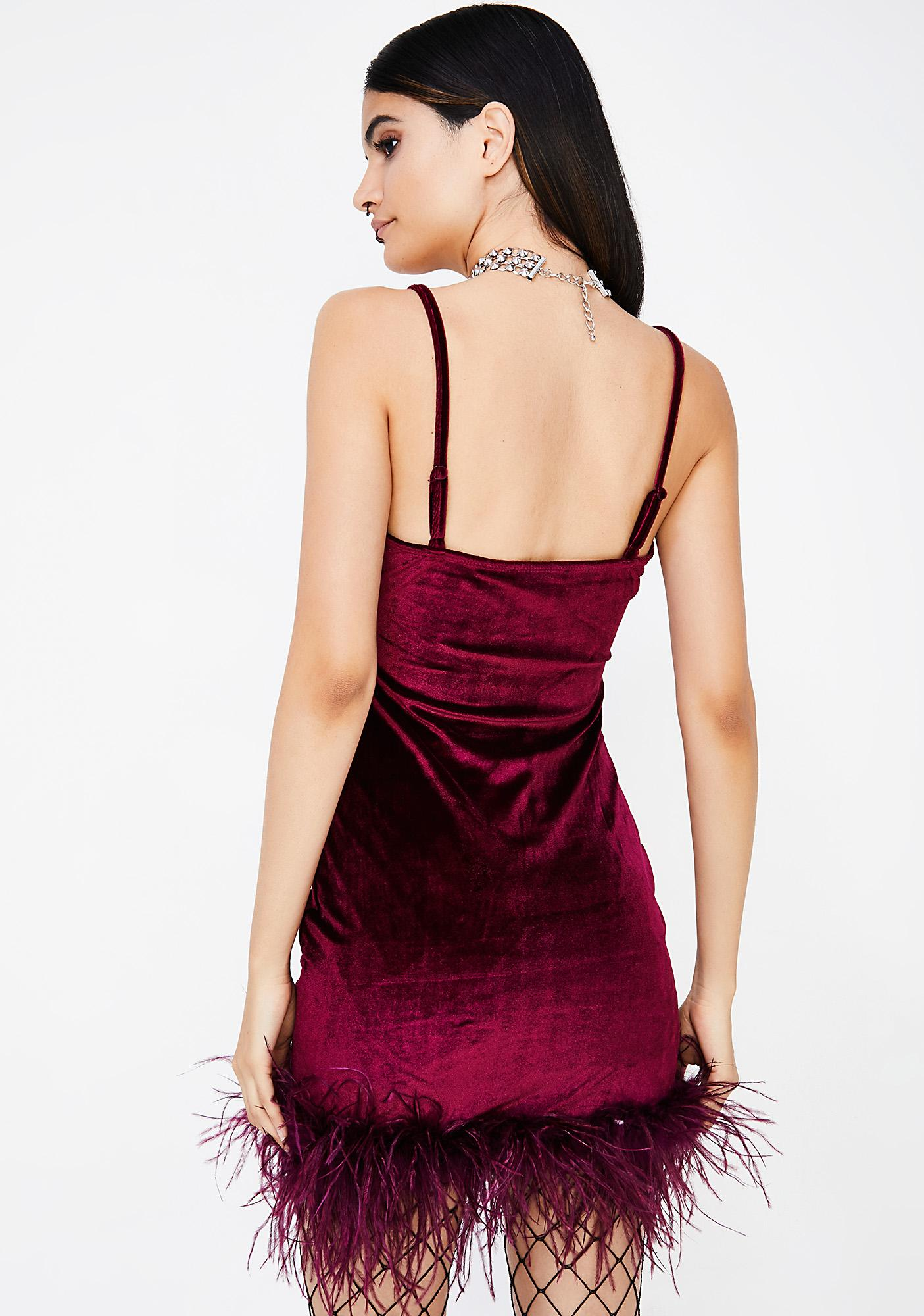 Know My Worth Velvet Mini Dress