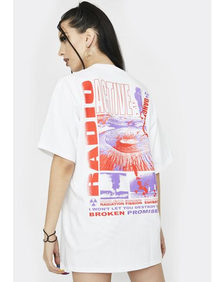 White Radioactive Graphic Tee