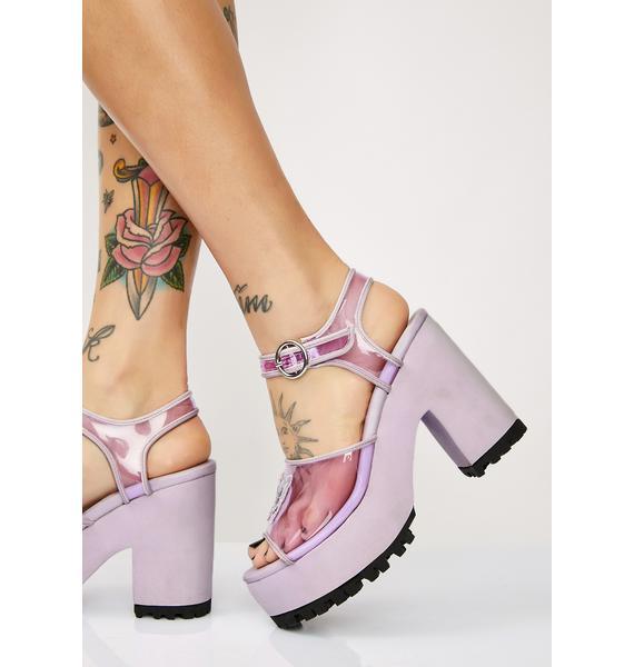 Sugar Thrillz Butterfly Behavior Platform Sandals