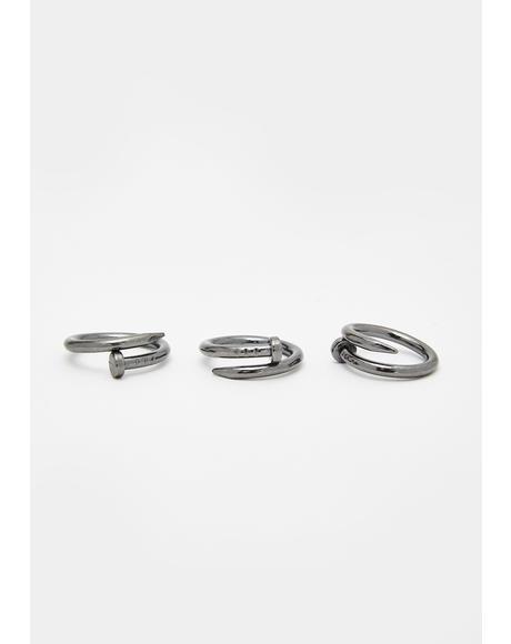 Broke A Nail Ring Set