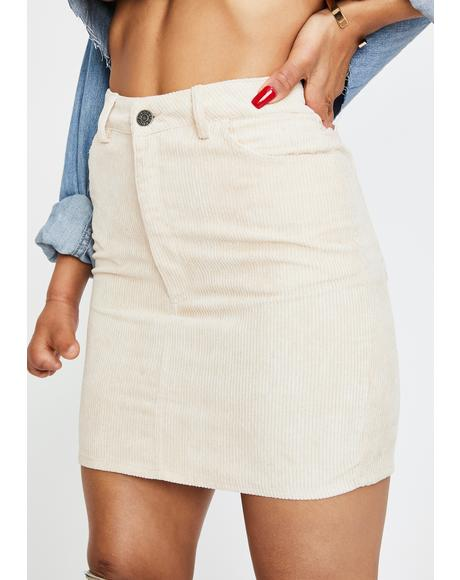 Stone Mini Broomy Skirt