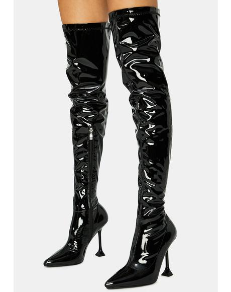 Checkmate Thigh High Boots