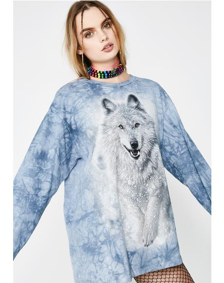 Snowed In Long Sleeve Wolf Tee