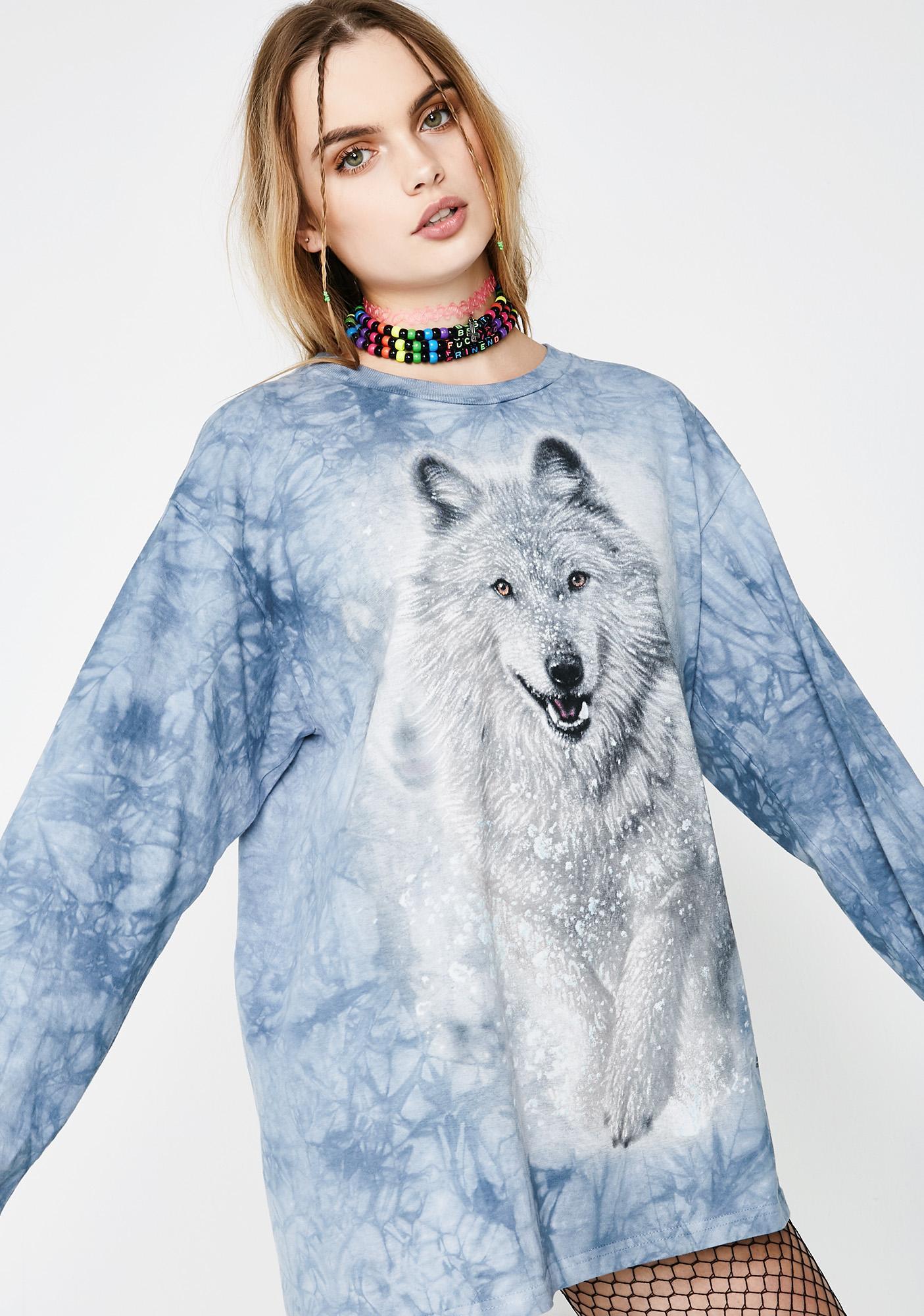 Snowed In Long Sleeve Wolf Tee