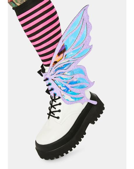 Pink Feyre Glitter Fairy Shoe Wingz
