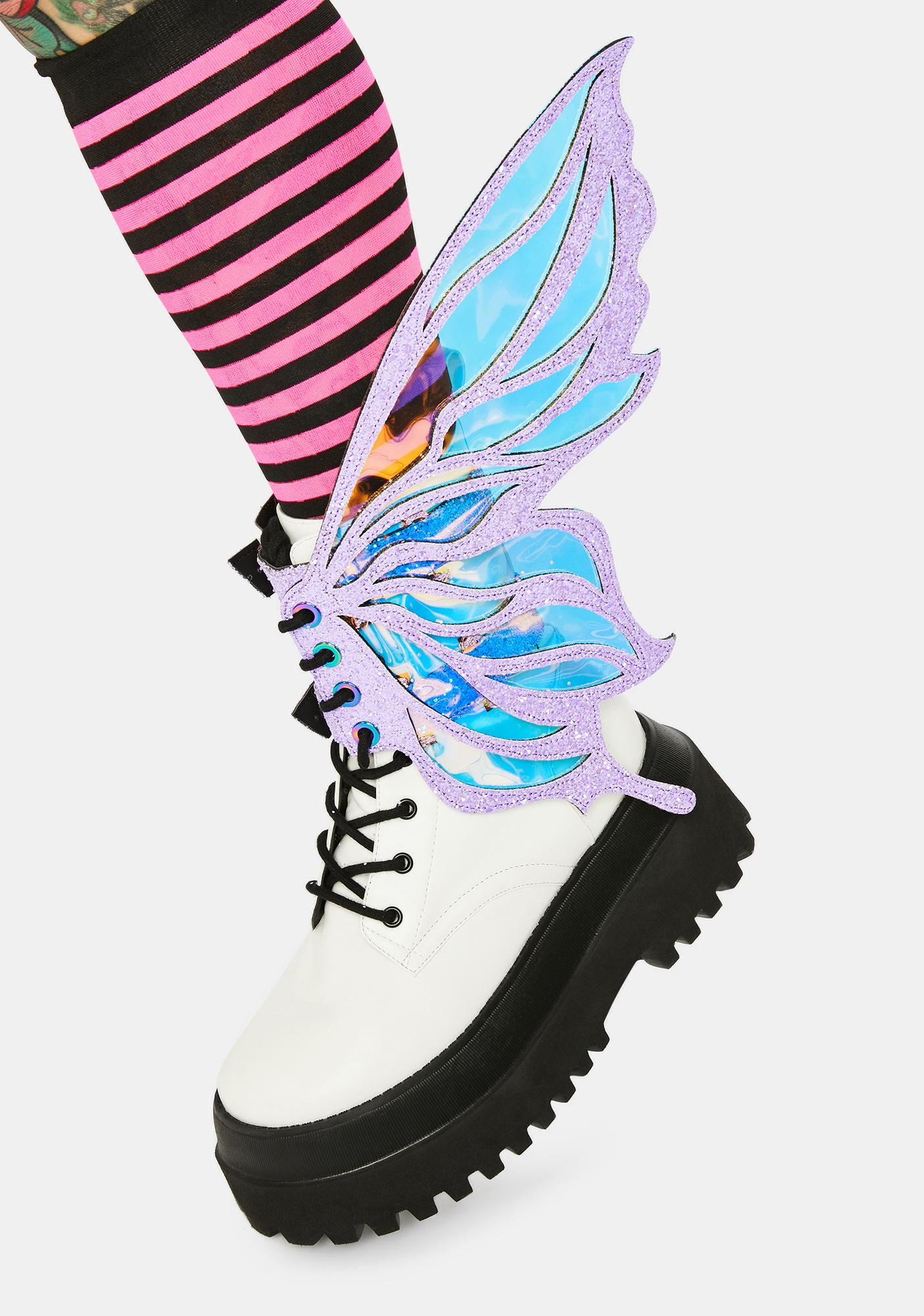 Neva Nude Pink Feyre Glitter Fairy Shoe Wingz