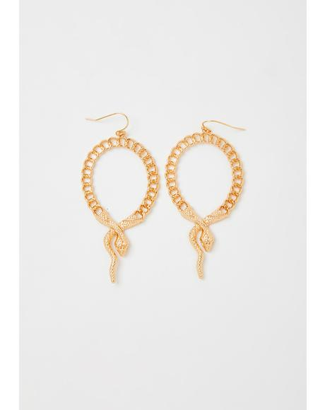 Glamorous Bloodline Snake Earrings