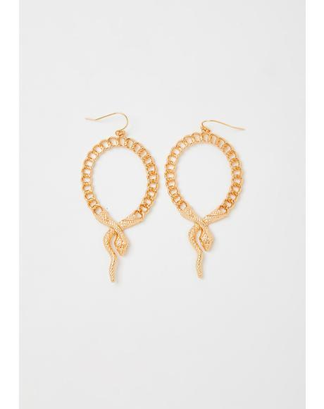 Glamorous Bloodline Snake Earrings
