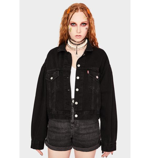 Levis Lady Di Pleated Trucker Jacket