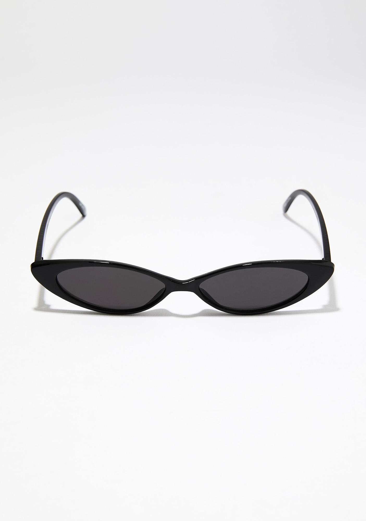 Midnight Deadly Encounter Skinny Sunglasses