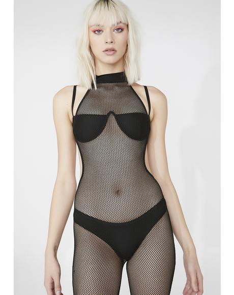 Sound Theorem Fishnet Catsuit