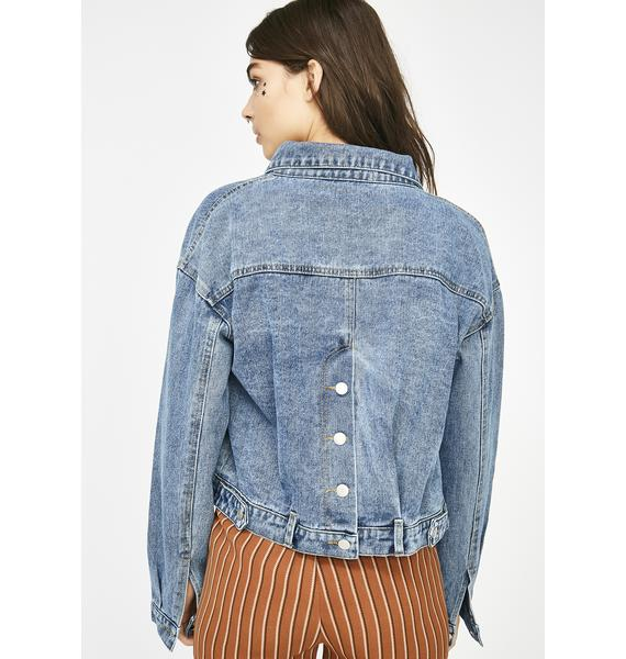 Get Carried Away Denim Jacket