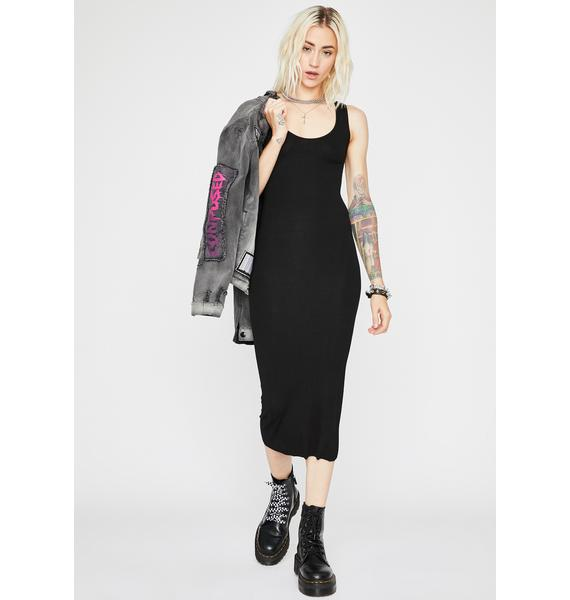 Ink Plain N' Simple Midi Dress