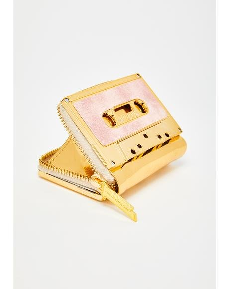 Duster Gold Retro Cassette Wallet