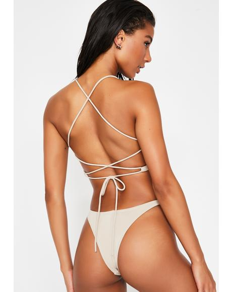 Latte A Whole Vibe Bikini Set
