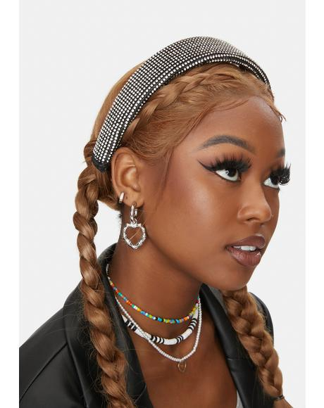 Noir Paving The Way Rhinestone Headband