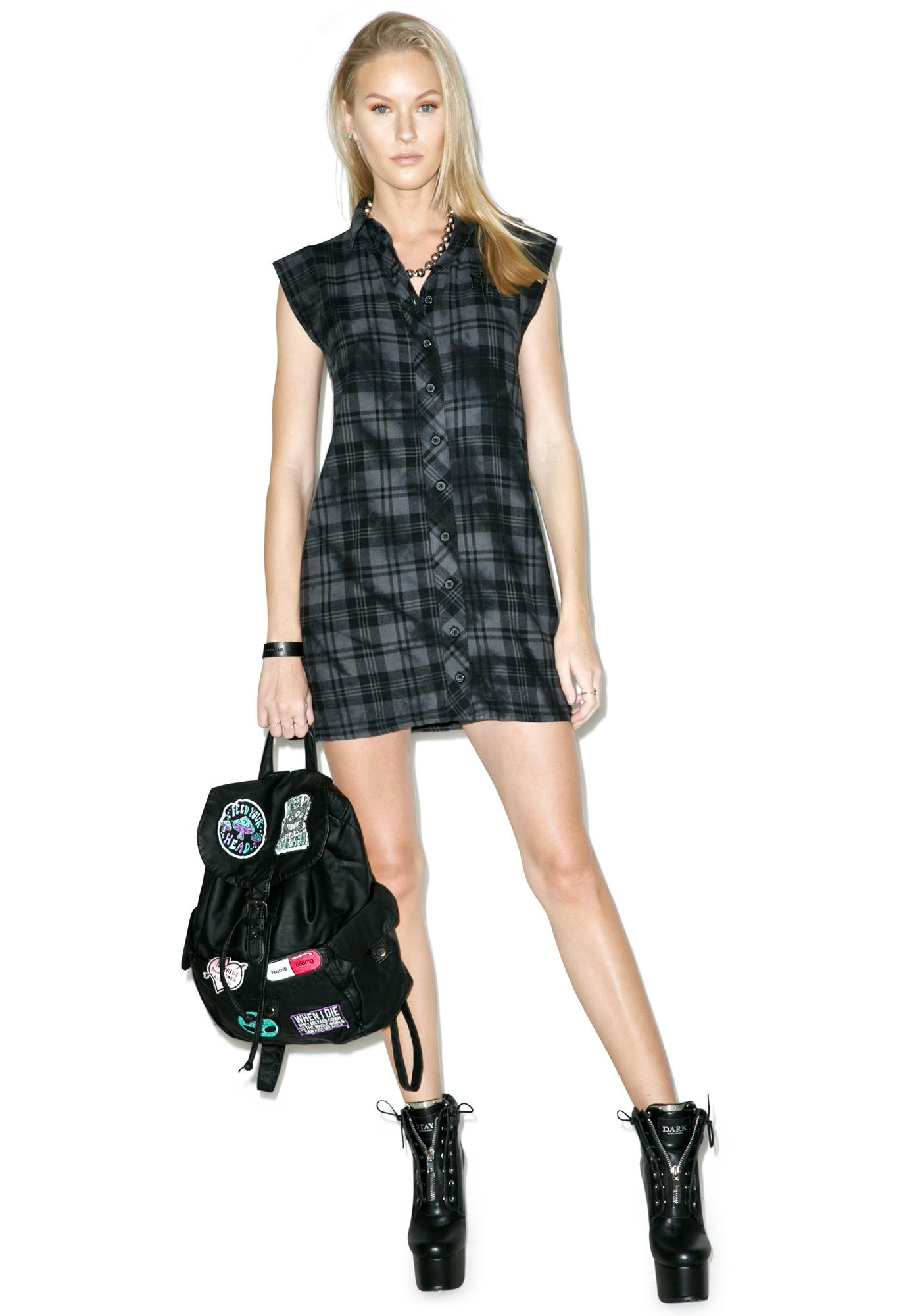 Disturbia Lupine Shirt Dress