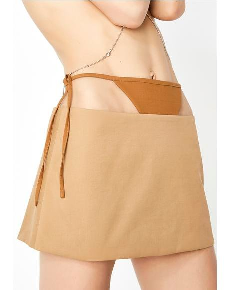 T Detail Mini Skirt